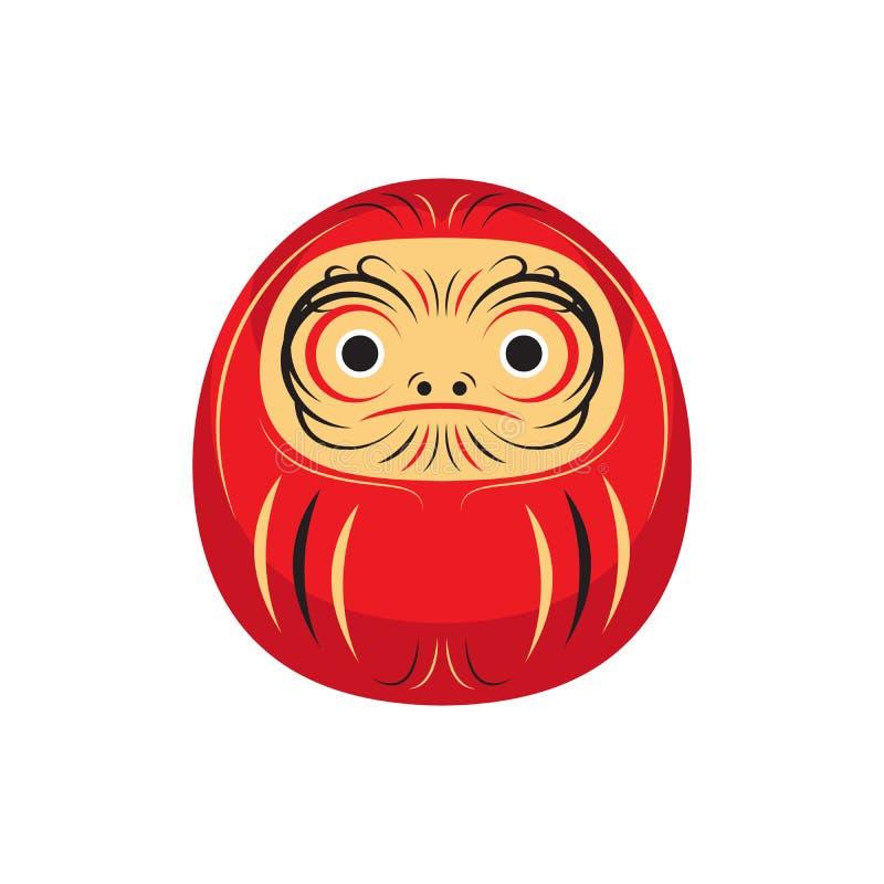 Vetor da cultura de Daruma Lucky Japanese Doll Asia Traditional ilustração royalty free