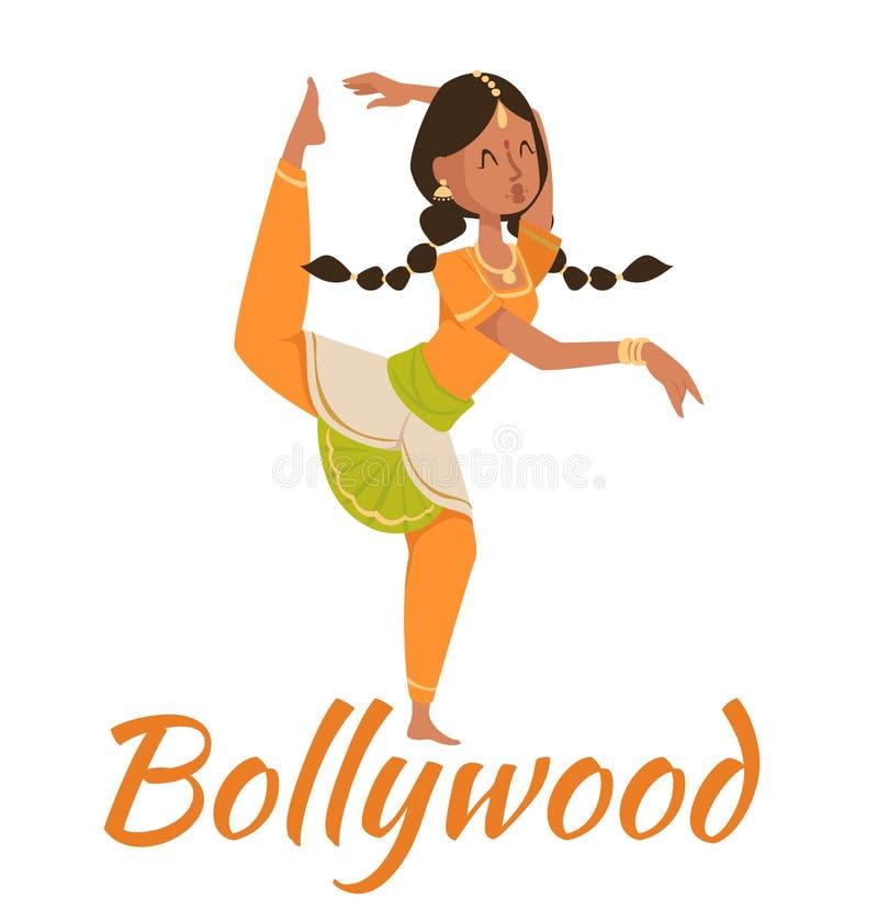 Vetor da dança dos pares de Bollywood do indiano ilustração stock