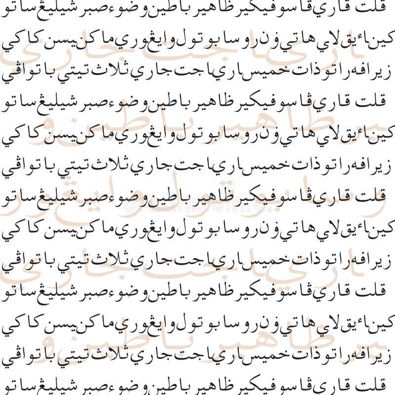 Vetor da escrita de Jawi ilustração royalty free