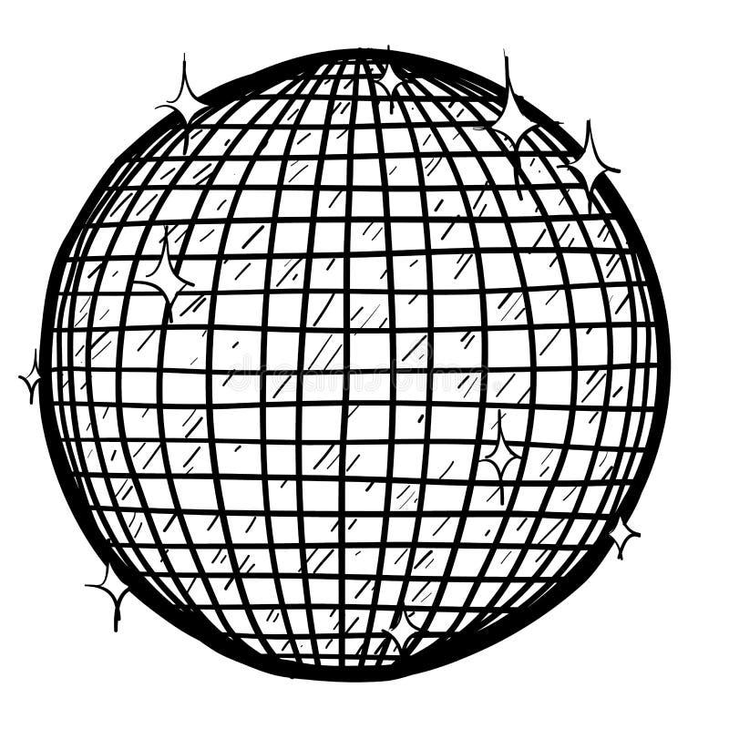 Vetor da esfera do disco ilustração stock