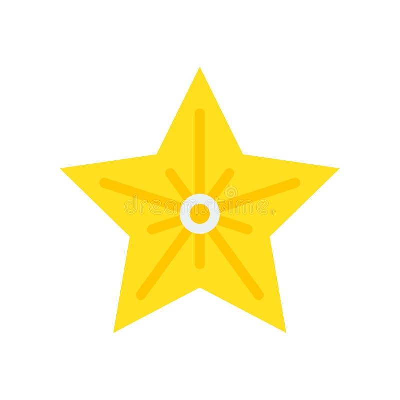 Vetor da estrela do Natal, ícone liso do estilo do estilo do Natal ilustração stock