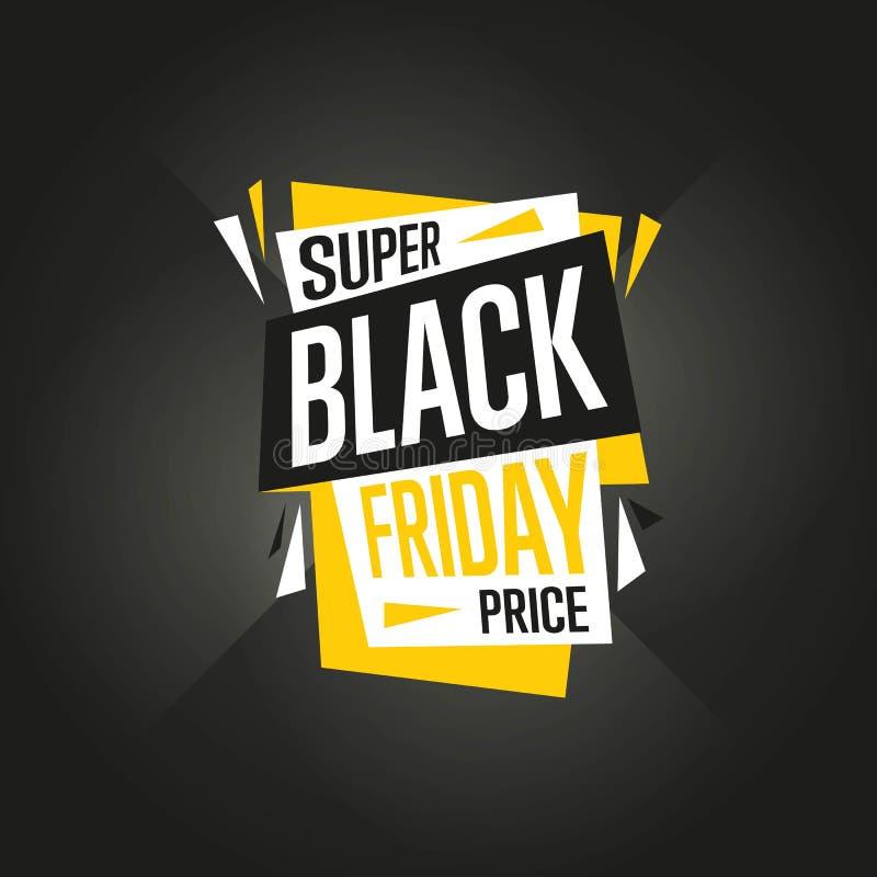 Vetor da etiqueta da venda de Black Friday ilustração do vetor