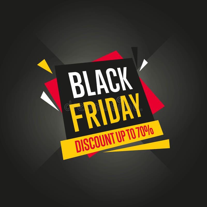 Vetor da etiqueta da venda de Black Friday isolado ilustração stock