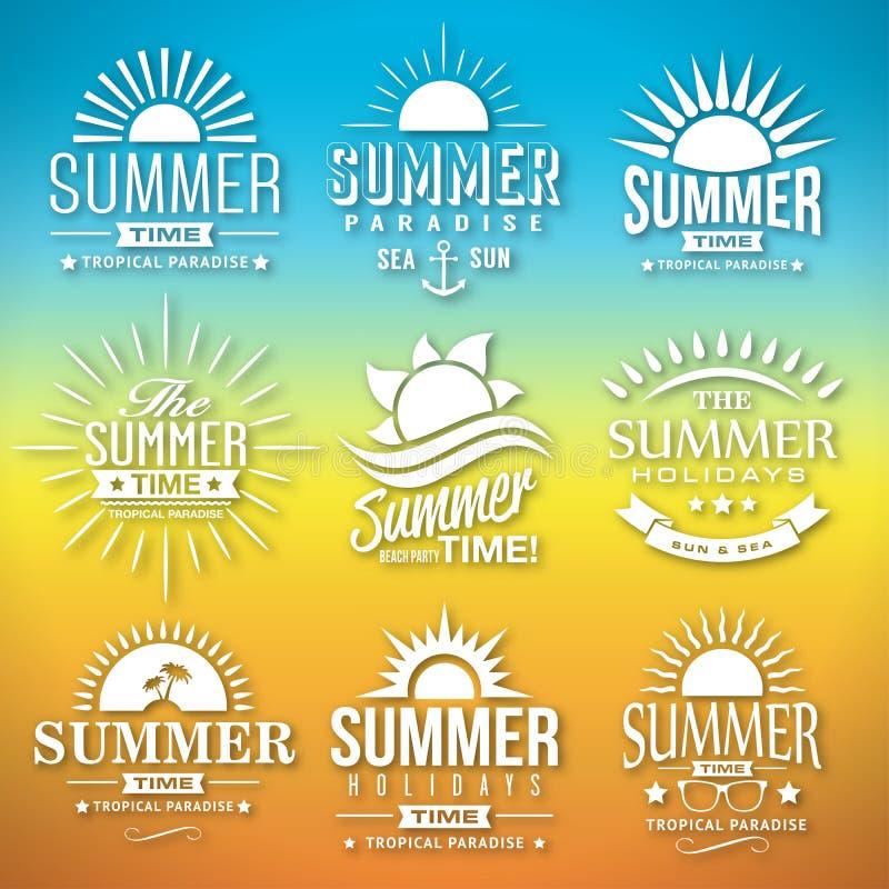 Vetor da etiqueta do verão ilustração stock