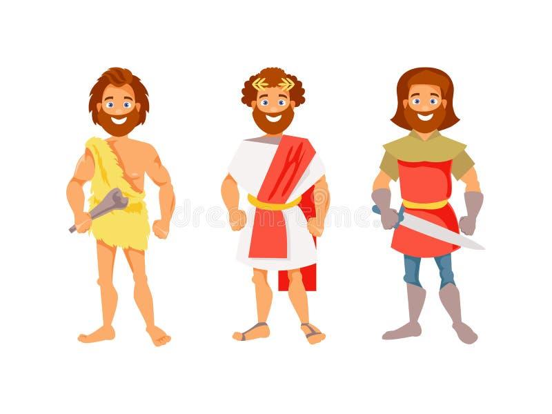 Vetor da evolução humana ilustração royalty free