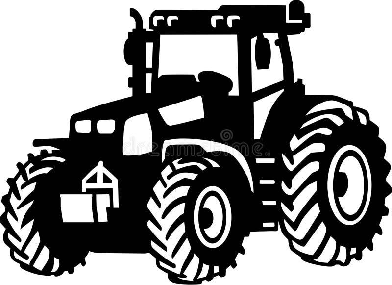 Vetor da exploração agrícola do trator ilustração do vetor