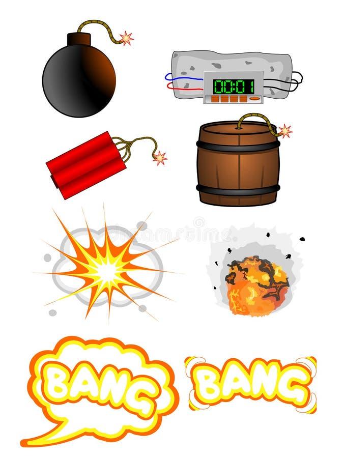 Vetor da explosão ilustração royalty free
