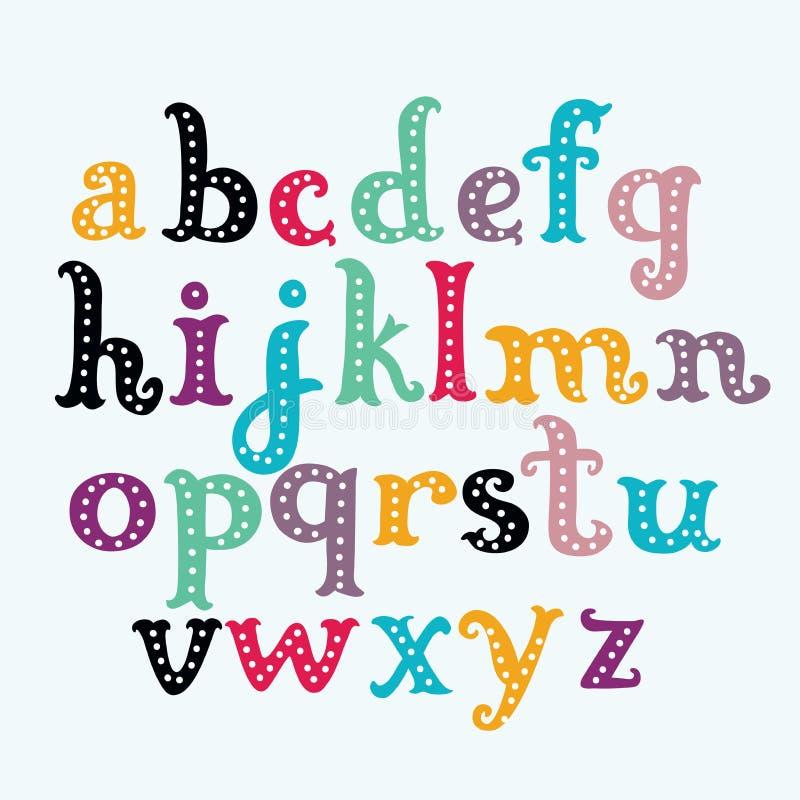Vetor da fonte splashy estilizado e do alfabeto ilustração royalty free
