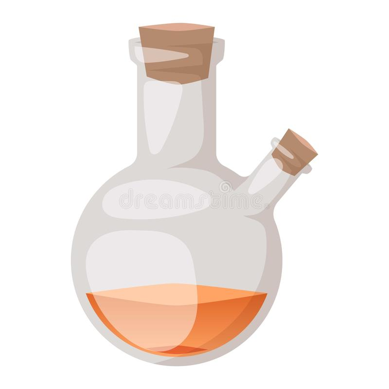Vetor da garrafa do laboratório ilustração royalty free
