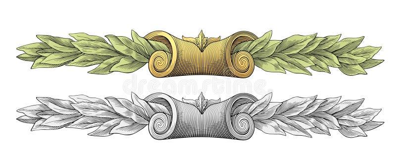 Vetor da grinalda do louro ilustração royalty free