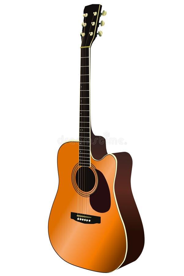 Vetor da guitarra acústica ilustração do vetor