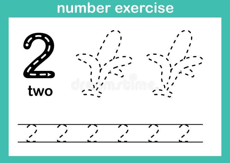 Vetor da ilustração do exercício do número ilustração stock