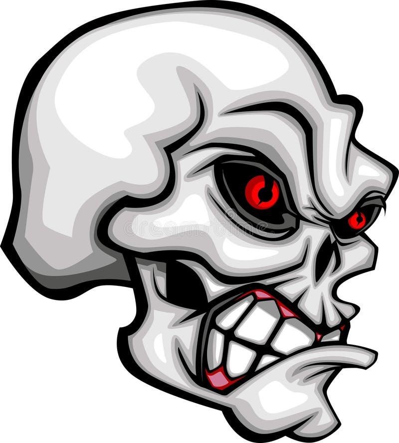 Vetor da imagem do crânio dos desenhos animados