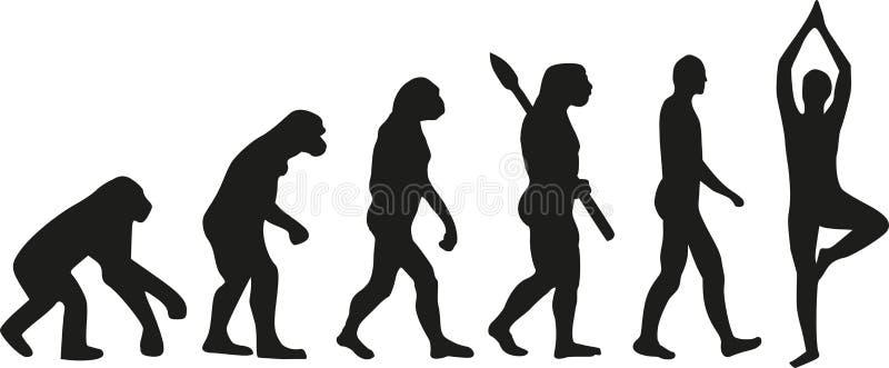 Vetor da ioga da evolução ilustração do vetor