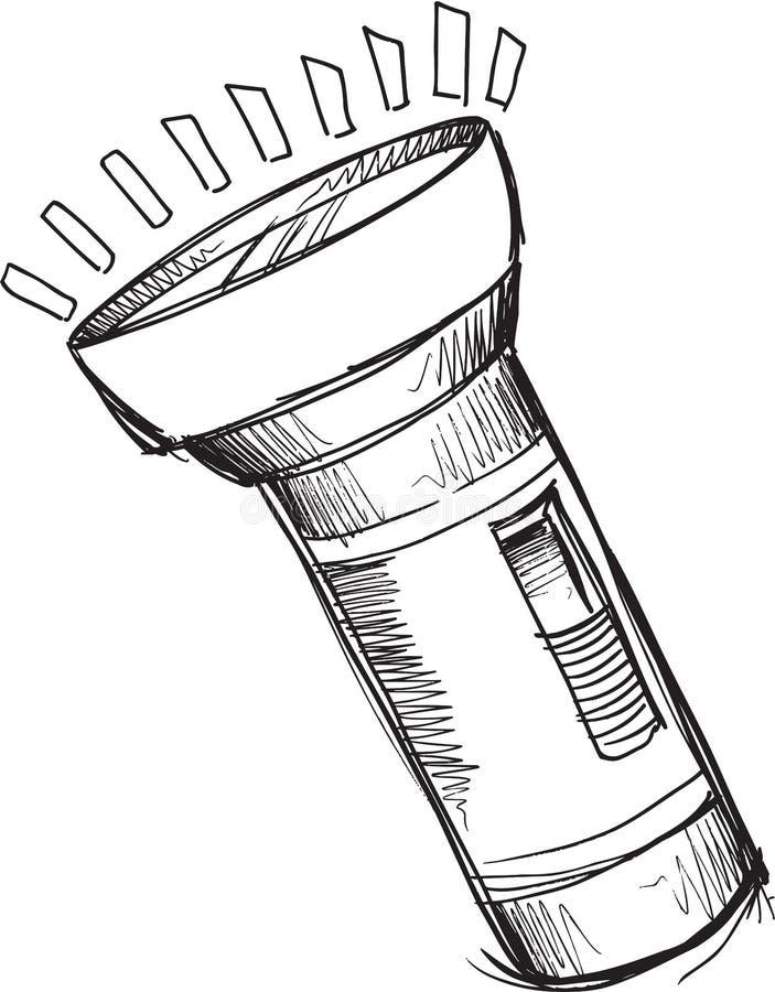 vetor da lanterna el u00e9trica da garatuja ilustra u00e7 u00e3o do vetor