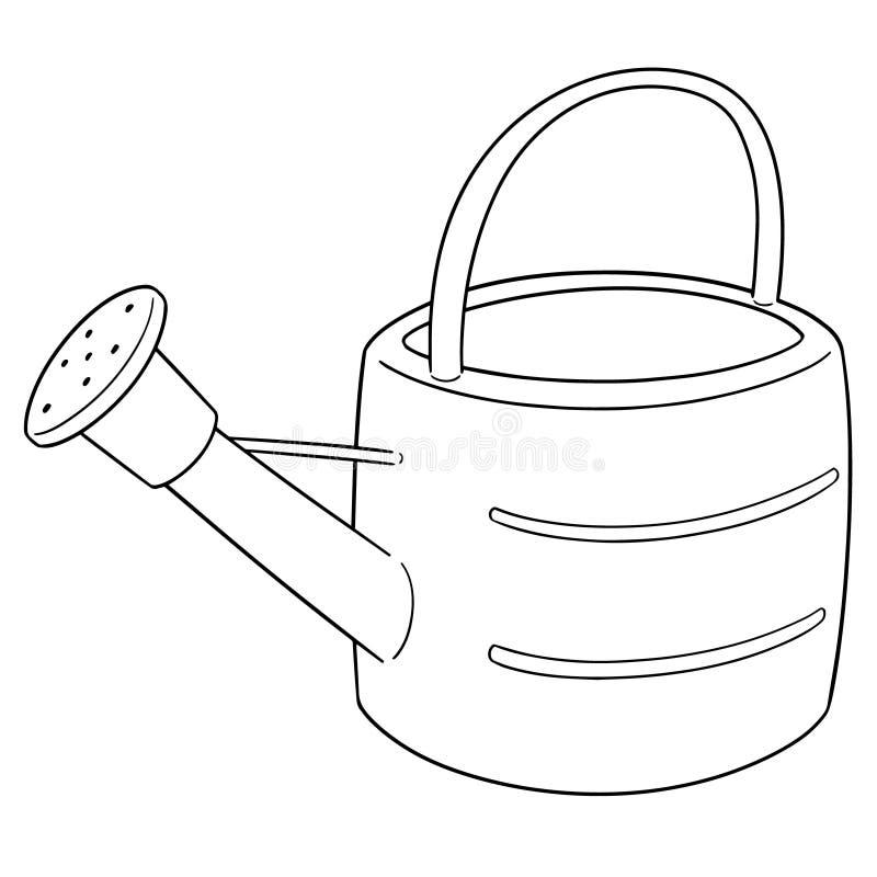 Vetor da lata molhando ilustração royalty free