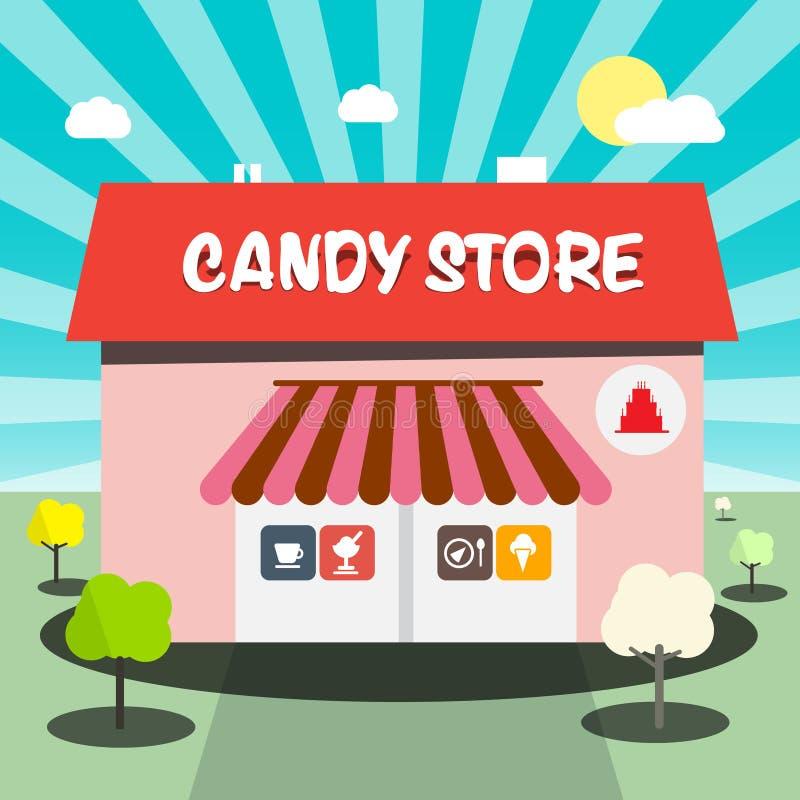 Vetor da loja de doces ilustração do vetor