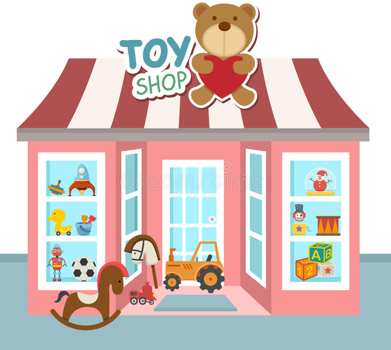 Vetor da loja do brinquedo ilustração royalty free