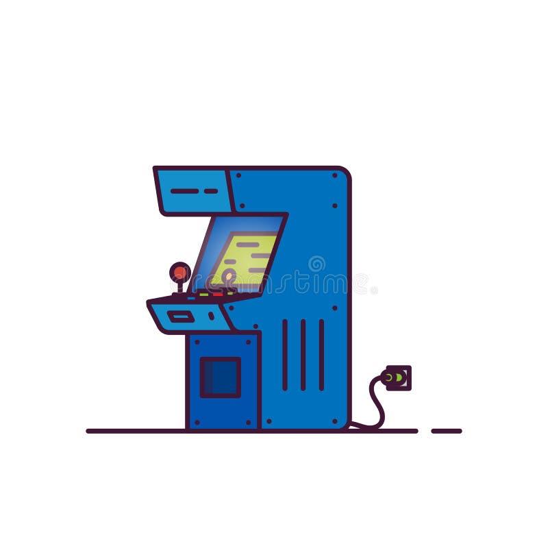 Vetor da máquina da arcada ilustração stock
