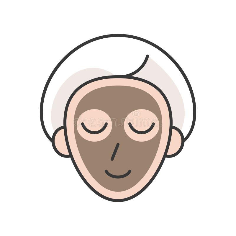 Vetor da máscara da argila ilustração royalty free