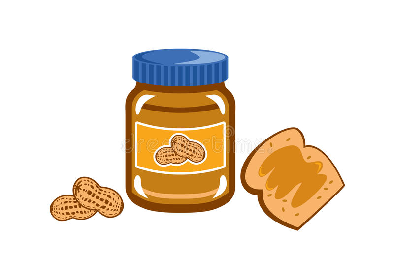 Vetor da manteiga de amendoim ilustração royalty free