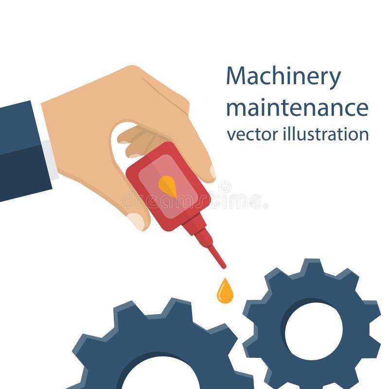Vetor da manutenção da maquinaria ilustração royalty free