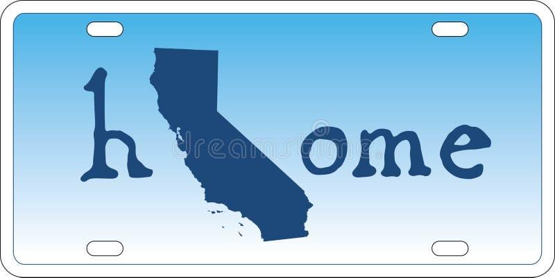 Vetor da matrícula do estado de Califórnia ilustração do vetor