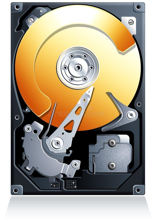 Vetor da movimentação de disco rígido HDD ilustração royalty free