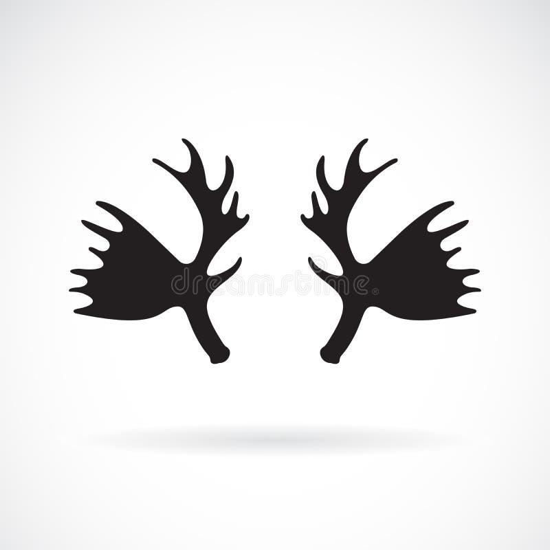Vetor da musse do chifre em um fundo branco Animais selvagens Logotipo ou ícone do chifre Ilustra??o mergulhada edit?vel f?cil do ilustração royalty free
