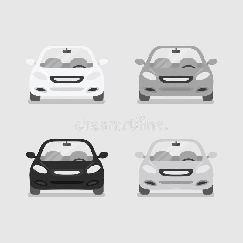 Vetor da opinião dianteira do carro ilustração royalty free