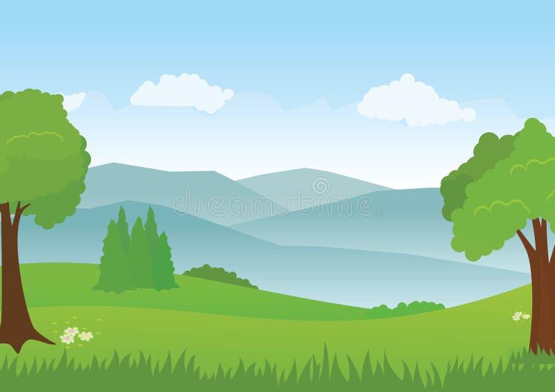 Vetor da paisagem, vetor rural, fundo da paisagem ilustração royalty free