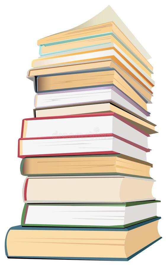 Vetor da pilha de livros ilustração do vetor