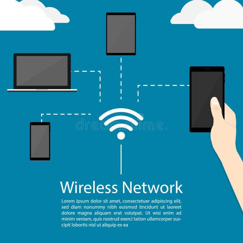Vetor da rede wireless ilustração royalty free