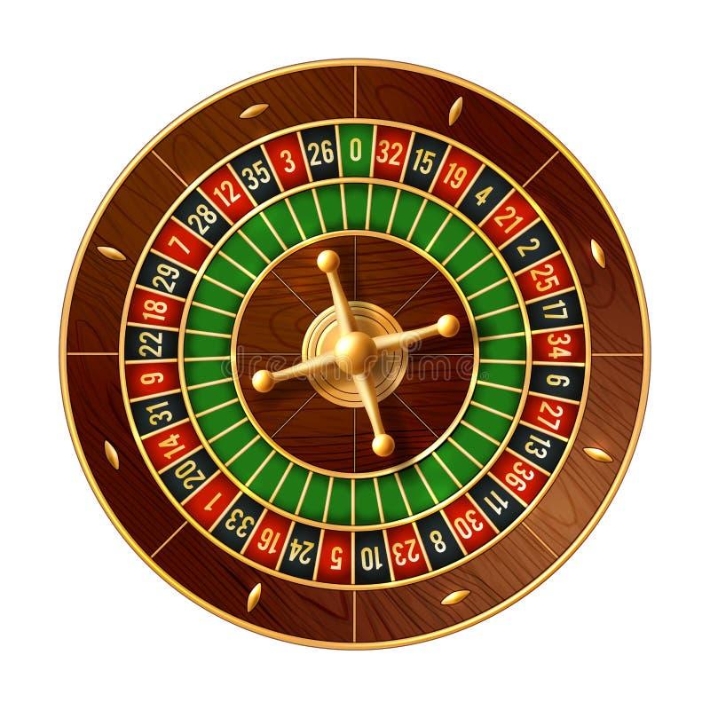 Vetor da roda de roleta 3d do casino do jogo do jogo ilustração stock