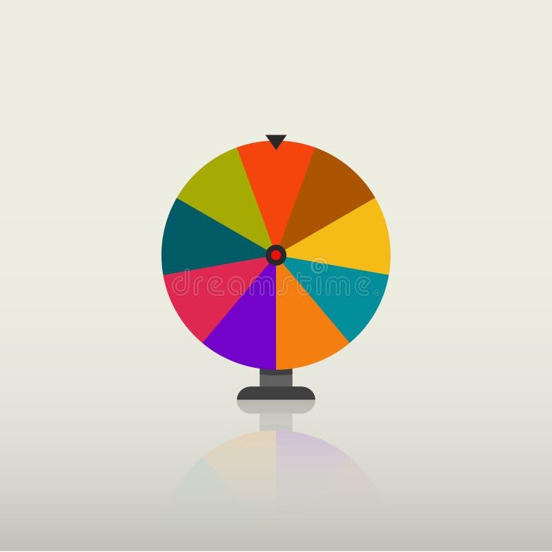 Vetor da roda da fortuna ilustração stock