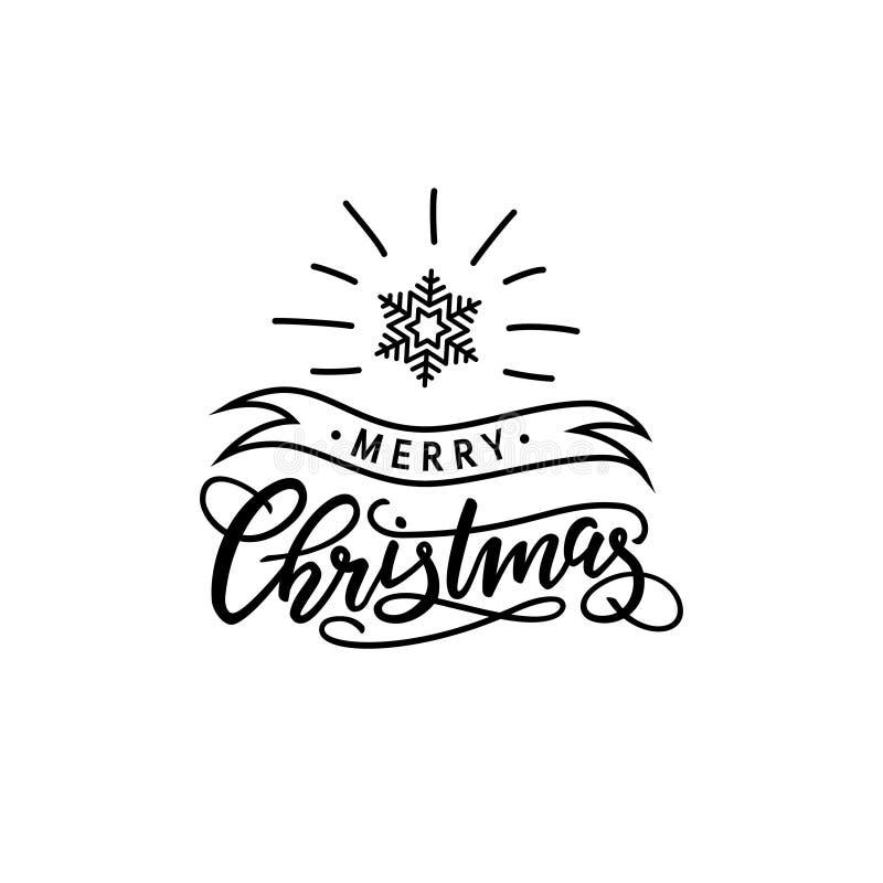 Vetor da rotulação do Natal ilustração stock