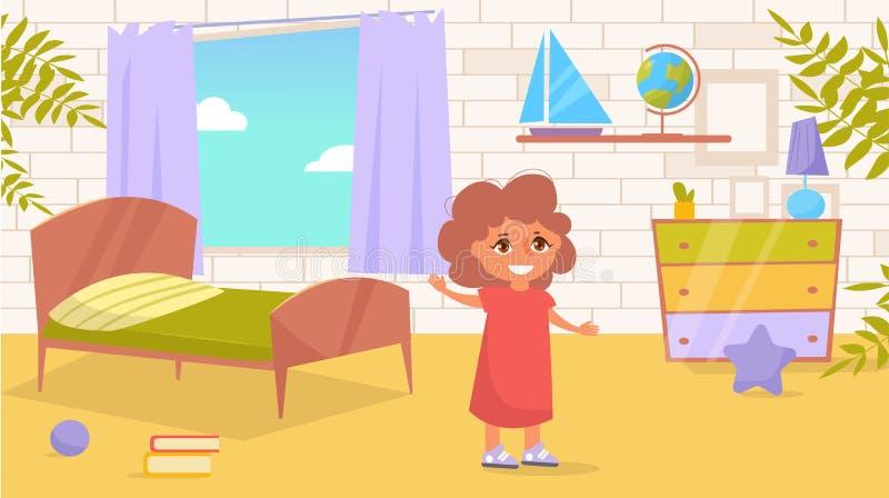 Vetor da sala de criança cartoon Arte isolada no fundo branco ilustração stock