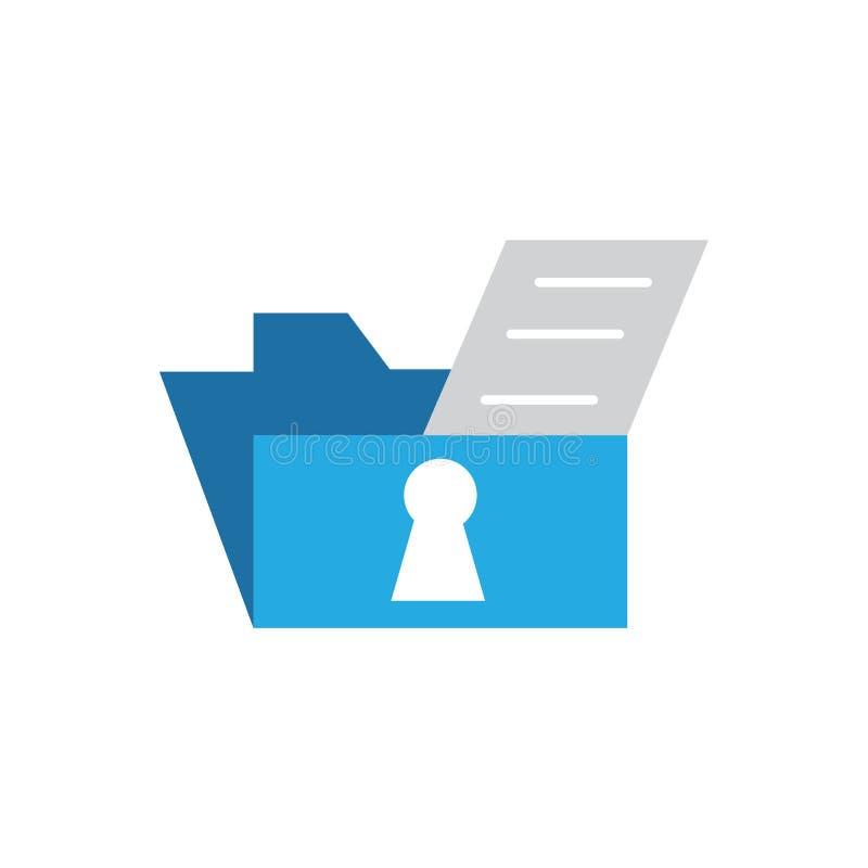 Vetor da segurança do arquivo de dados  ilustração stock