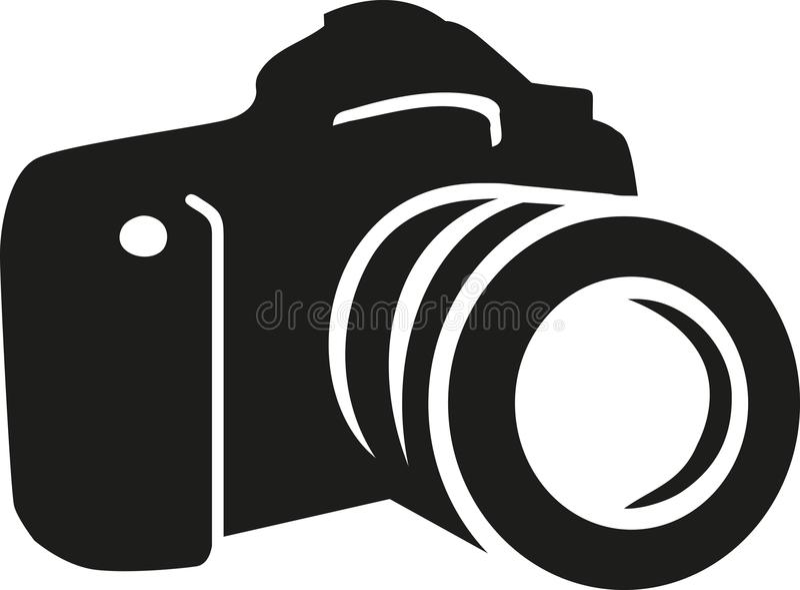 Vetor da silhueta da câmera ilustração stock