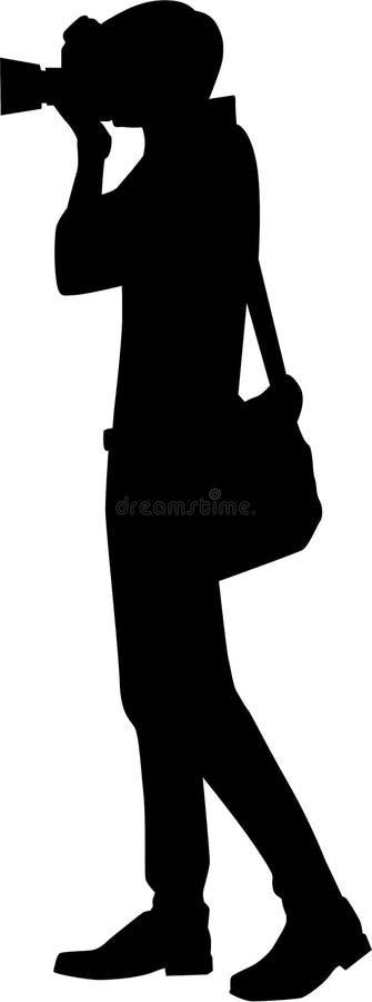 Vetor da silhueta do fotógrafo ilustração royalty free