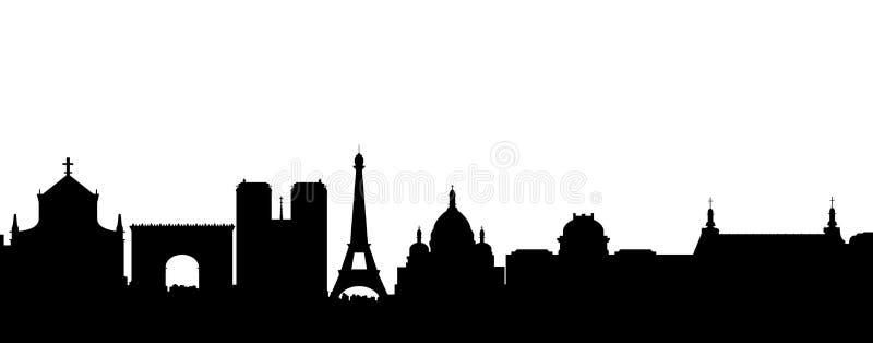 Vetor da silhueta do preto de Paris ilustração royalty free