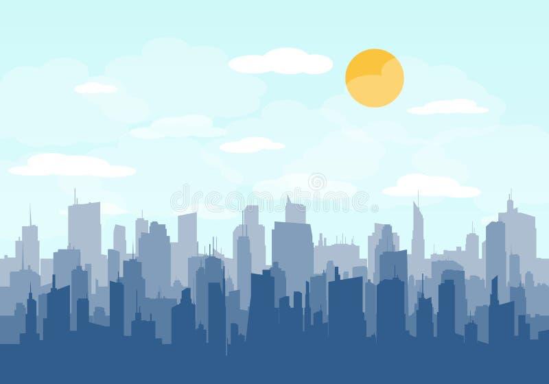Vetor da skyline da cidade ilustração royalty free