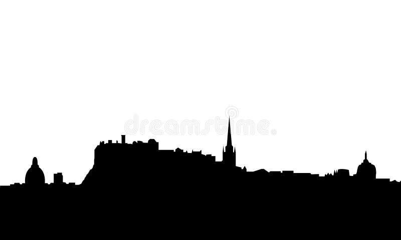 Vetor da skyline de Edimburgo isolado ilustração stock