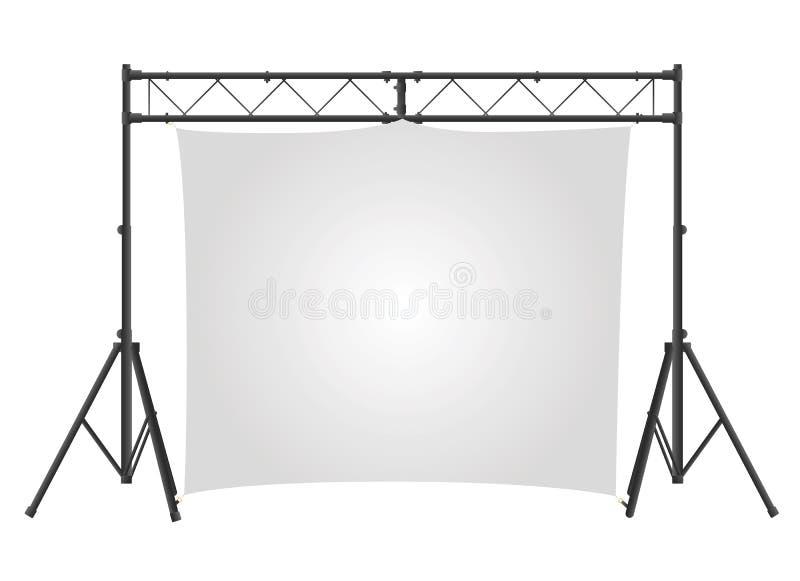 Vetor da tela da apresentação ilustração stock