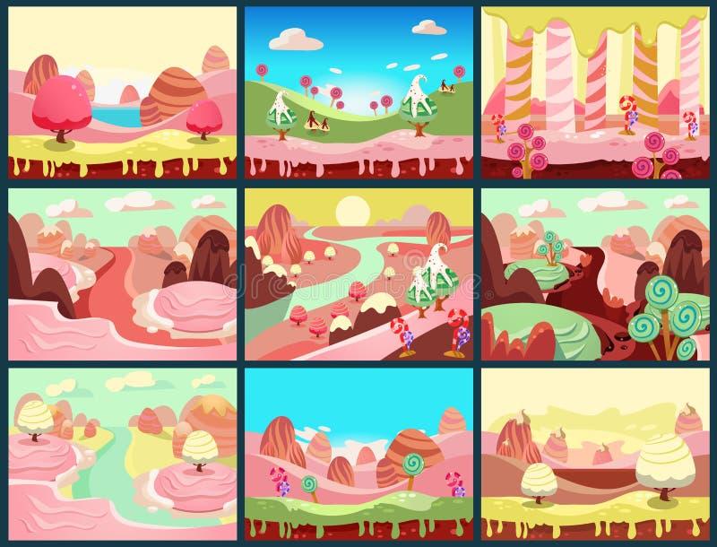 Vetor da terra dos doces ilustração royalty free
