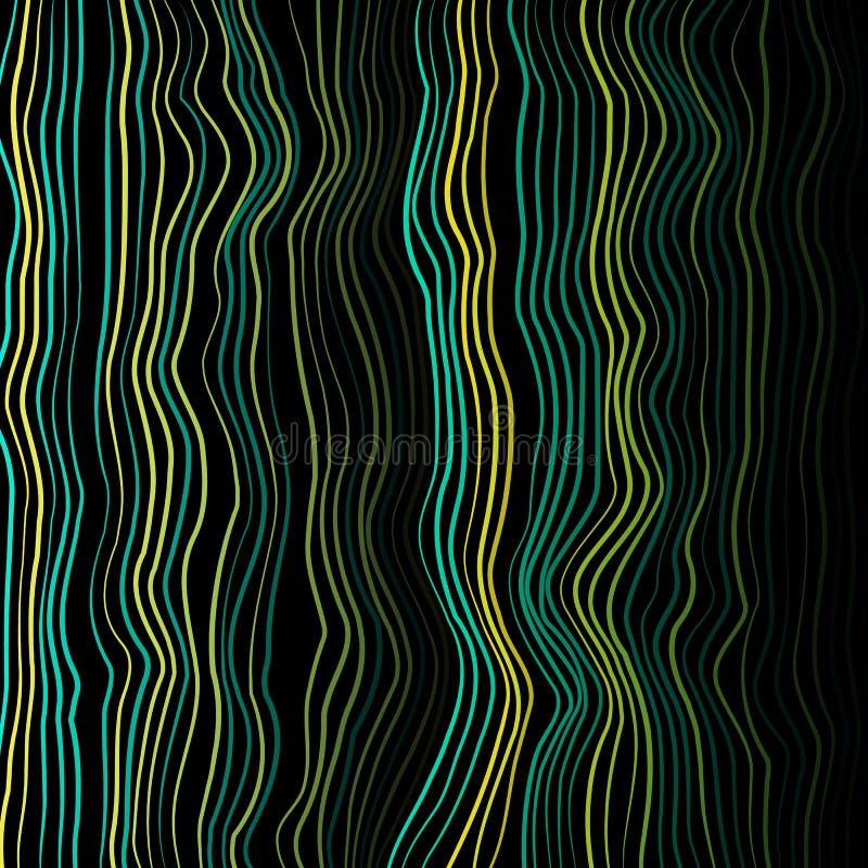 Vetor da textura do ondeamento O vetor entortado alinha o fundo colorido Ondas do ondeamento O vetor entortado alinha o fundo ilustração stock