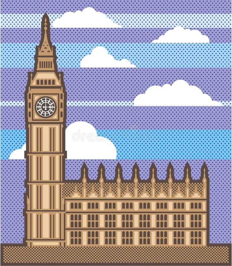 Vetor da torre de pulso de disparo ilustração royalty free