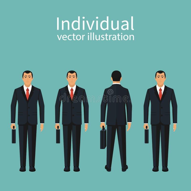 Vetor da unicidade e da individualidade ilustração royalty free