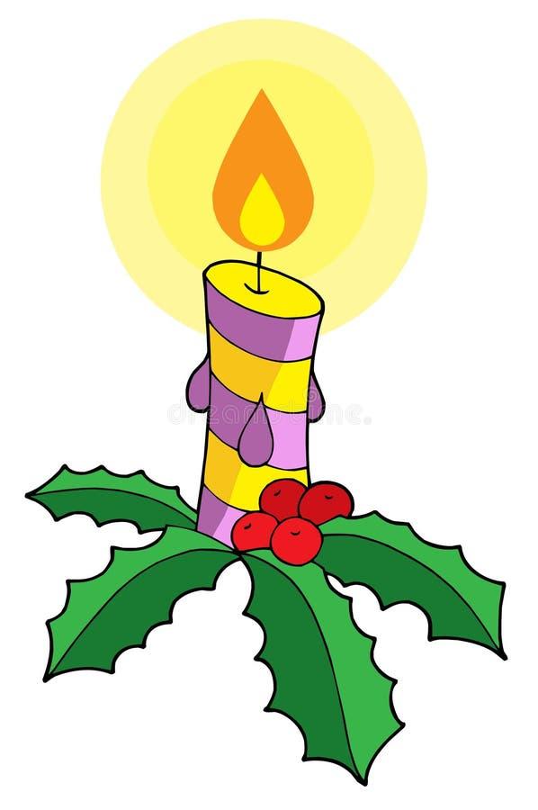 Vetor da vela do Natal ilustração royalty free