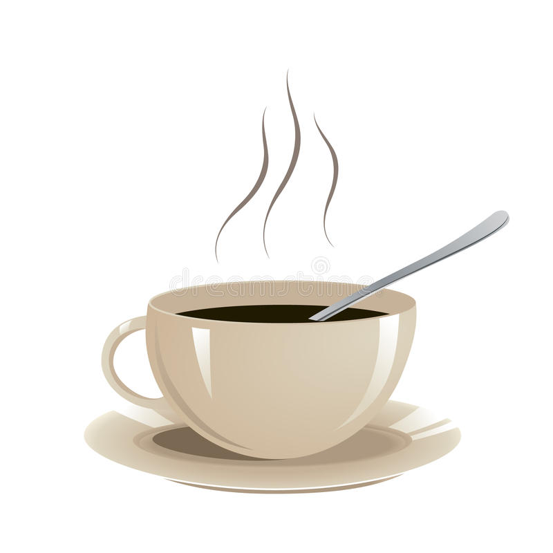 Vetor da xícara de café imagens de stock
